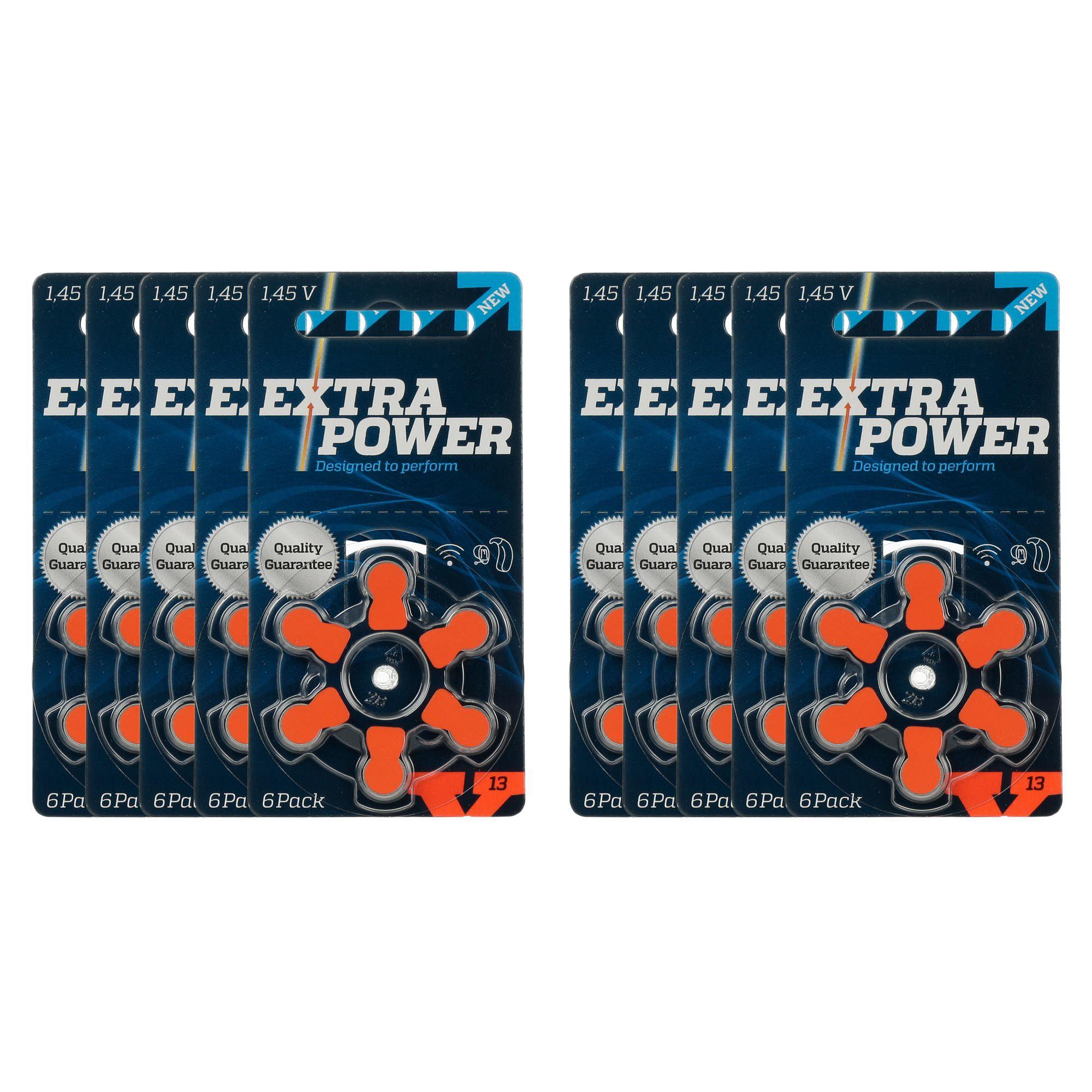 ExtraPower A13 / PR48 - 10 Cartelas - 60 Baterias para Aparelho Auditivo  - SONORA