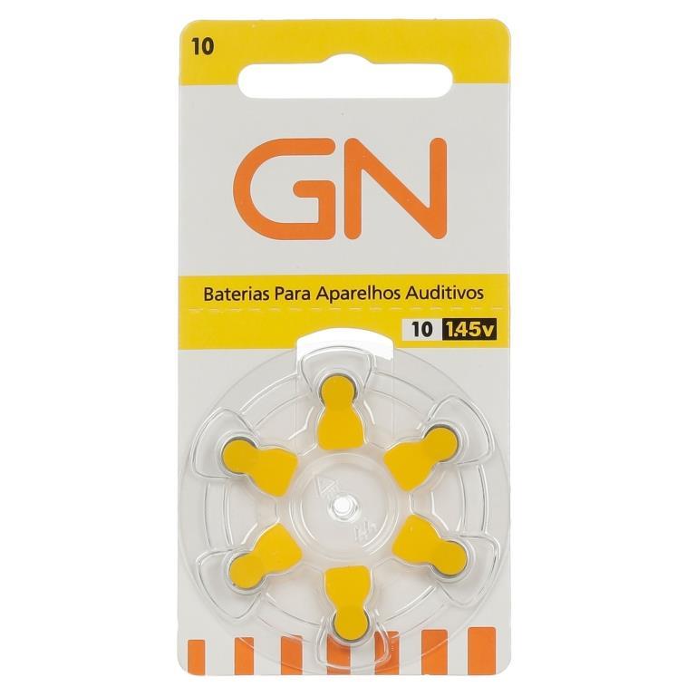 GN RESOUND 10 / PR70 - 1 Cartela - 6 Baterias para Aparelho Auditivo