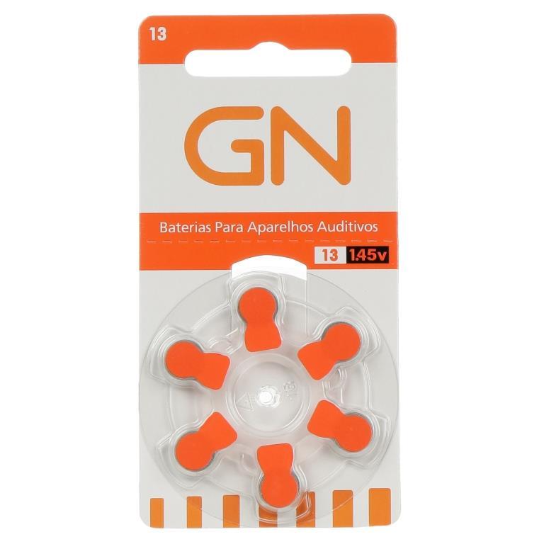 GN RESOUND 13 / PR48 - 1 Cartela - 6  Baterias para Aparelho Auditivo