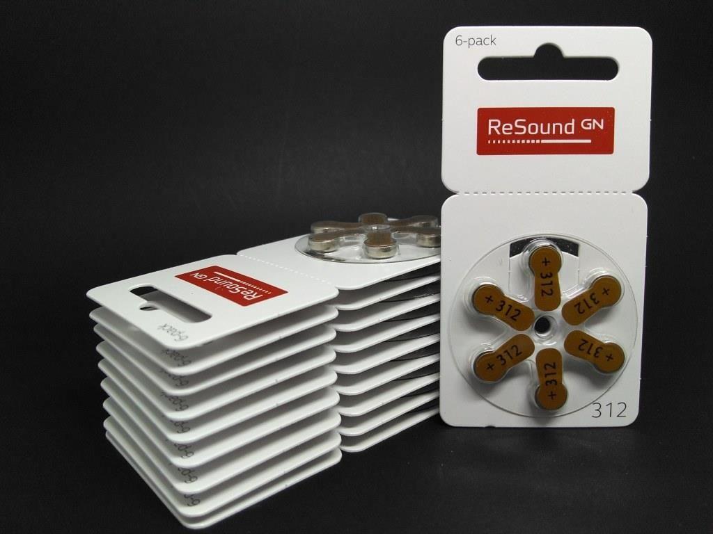 GN RESOUND 312 / PR41 - 10 Cartelas - 60 Baterias para Aparelho Auditivo  - SONORA