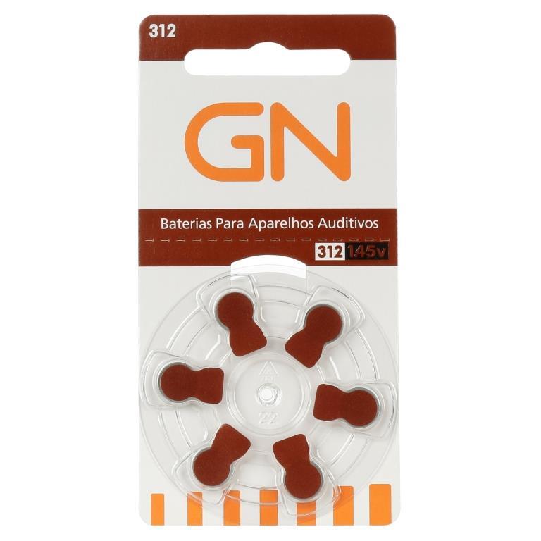 GN RESOUND 312 / PR41 - 1 Cartela - 6  Baterias para Aparelho Auditivo