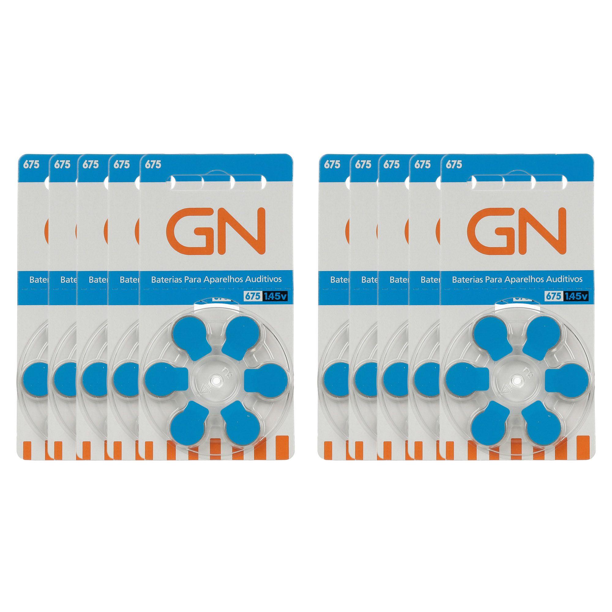 GN RESOUND 675 / PR44 - 10 Cartelas - 60 Baterias para Aparelho Auditivo  - SONORA