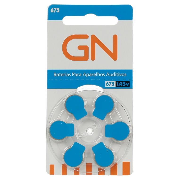 GN RESOUND 675 / PR44 - 1 Cartela - 6 Baterias para Aparelho Auditivo