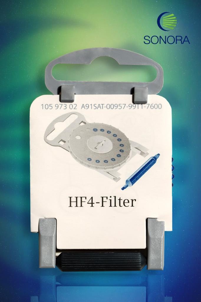 HF4 - Protetor de cera - Azul (Esquerdo) - Estojo com 15 Unidades  - SONORA