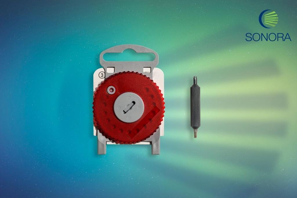 HF4 - Protetor de cera - Vermelho (Direito) - Estojo com 15 Unidades  - SONORA