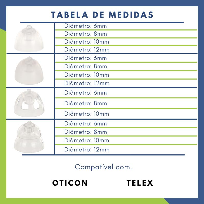 OTICON - DOMO MINIFIT - 10 UNIDADES  - SONORA