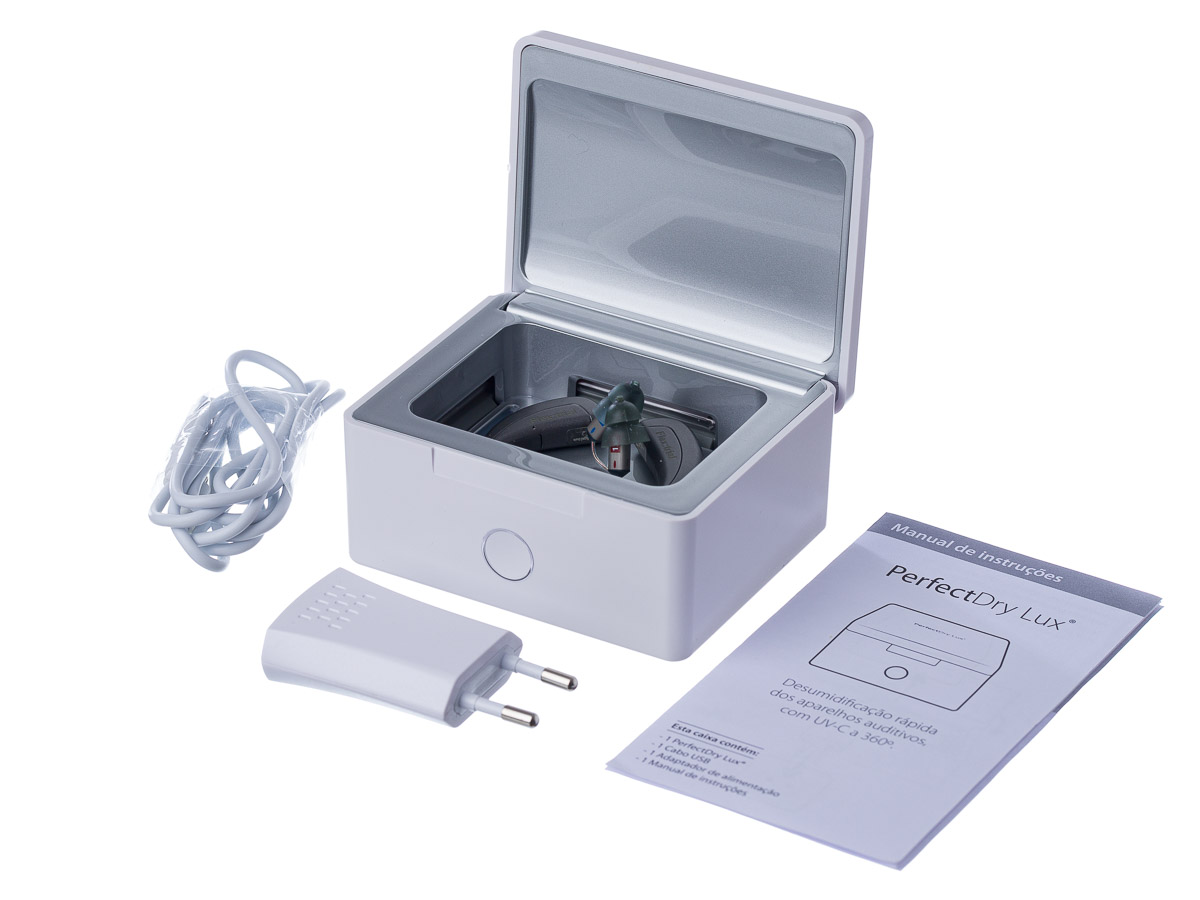PERFECT DRY LUX - Desumidificador Elétrico com função Anti-Germe (UV-C 360°)
