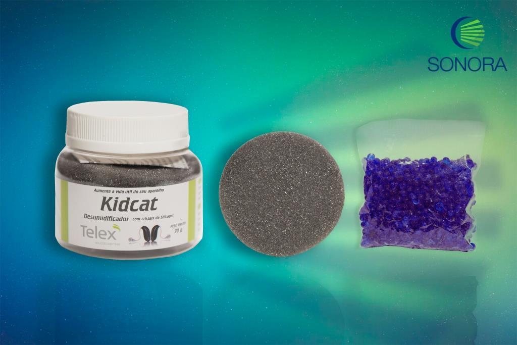KID CAT - Kit Desumidificador para Aparelho Auditivo - OTICON