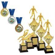 Kit de Troféus Gold Campeão de Futebol KCP1000 Vitória