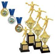 Kit de Troféus Gold Campeão de Handebol KCP1300 Vitória