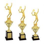 Kit de Troféus Gold Campeão de Tênis KCP1900 Vitória