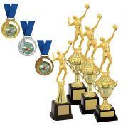 Kit de Troféus Gold Campeão de Vôlei KCP1200 Vitória