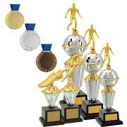 Kit de Troféus Platinum Campeão de Futebol KCP2000 Vitória