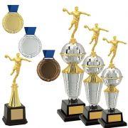 Kit de Troféus Platinum Campeão de Handebol KCP2300 Vitória