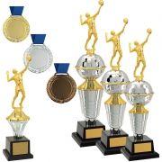 Kit de Troféus Platinum Campeão de Vôlei KCP2200 Vitória