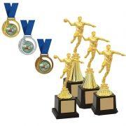 Kit de Troféus Silver Campeão de Handebol KCP400 Vitória