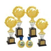 Kit de Troféus Platinum Campeão de Sinuca em Dupla KCP2500 Vitória