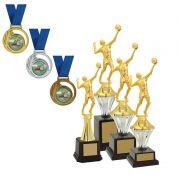 Kit de Troféus Silver Campeão de Vôlei KCP300 vitória