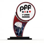 Troféu Campeão de Baralho Personalizado BAR3900 19x16cm Criart