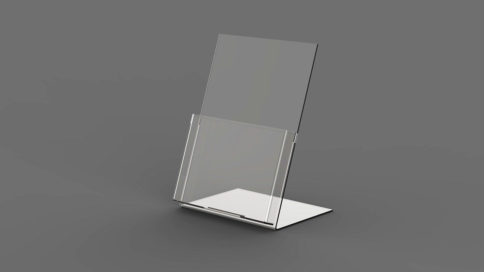 Display de Mesa em Acrilico com Bolso ACR800
