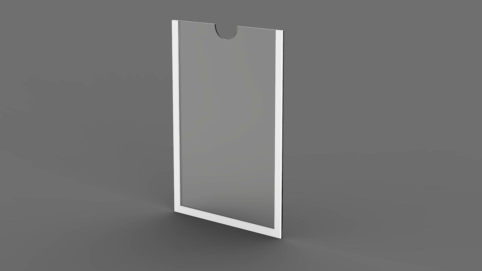 Display em Acrílico com Borda Branca ACR400