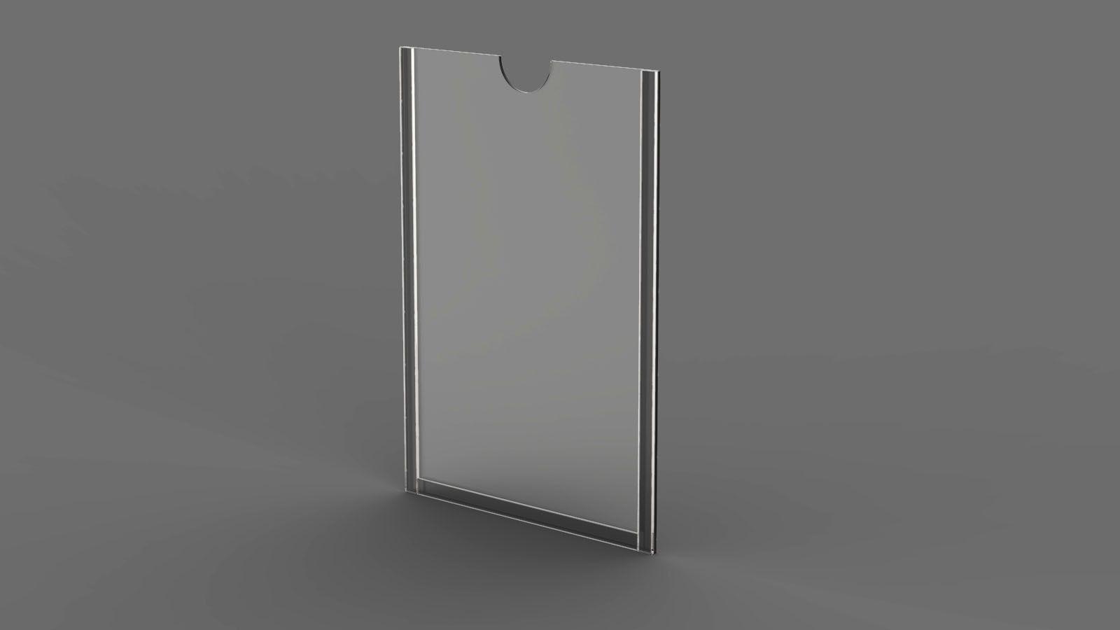 Display em Acrílico com Borda Transparente para parede ACR700