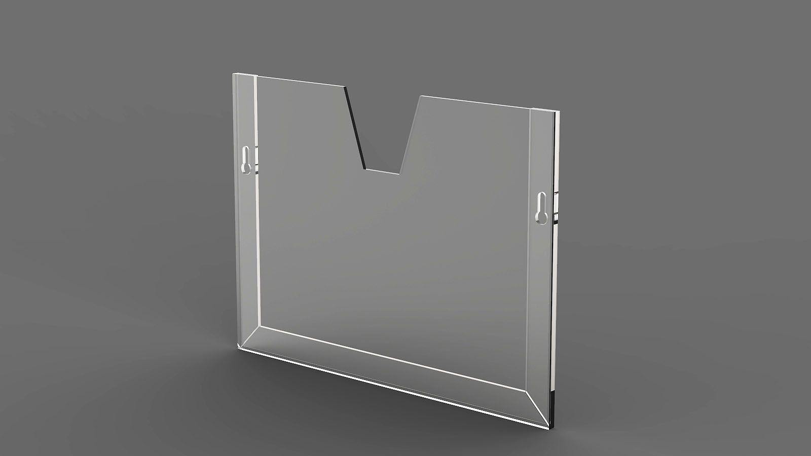 Display em Acrílico Horizontal com Moldura Dobrada ACR500