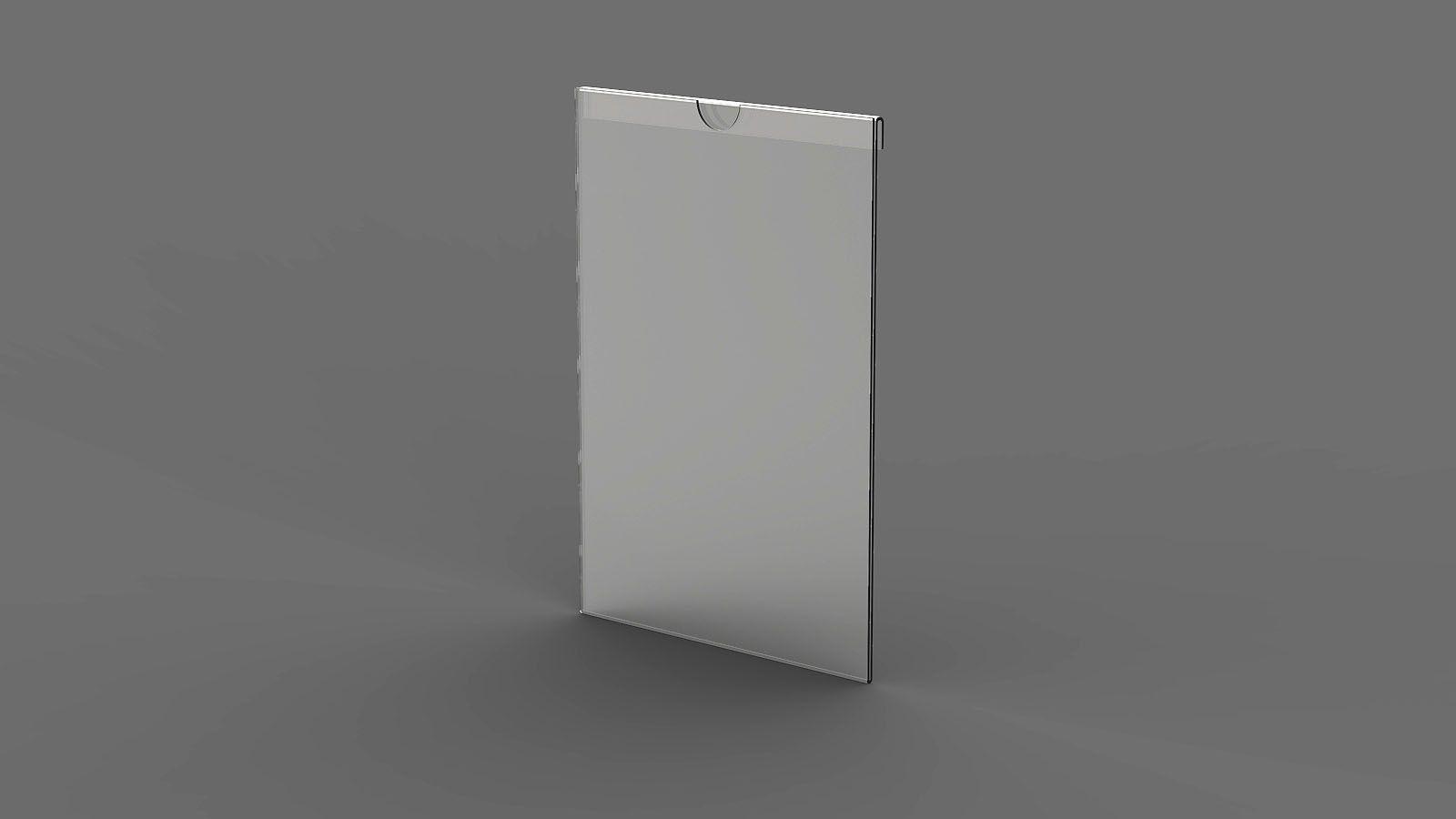 """Display em Acrilico """"U"""" Vertical para encaixe de vidro ACR1200"""