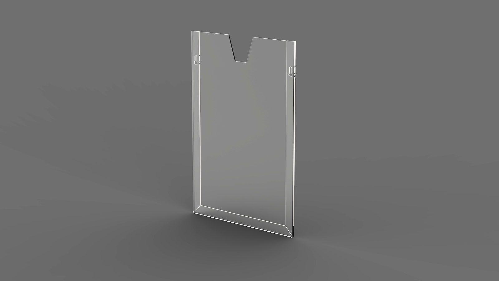 Display em Acrílico Vertical com Moldura Dobrada ACR600