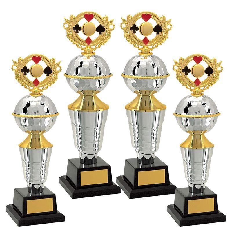 Kit de Troféus Platinum Campeão de Baralho KCP2400 Vitória