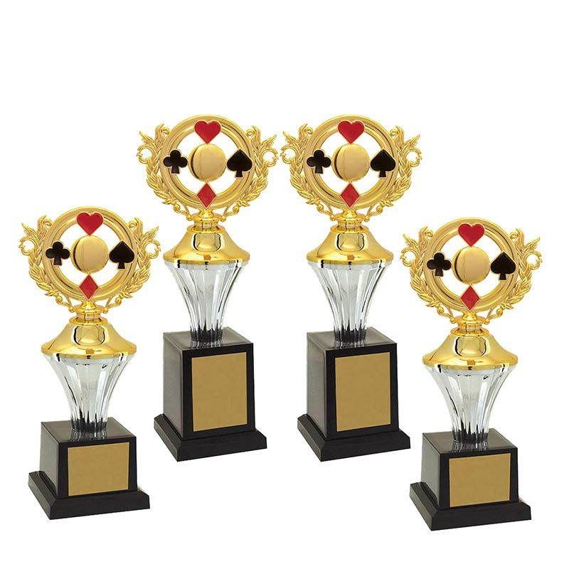 Kit de Troféus Silver Campeão de Baralho KCP500 Vitória