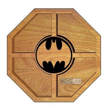 Petisqueira Batman PTQ600<br>26 x 26 x 3,6cm</br>