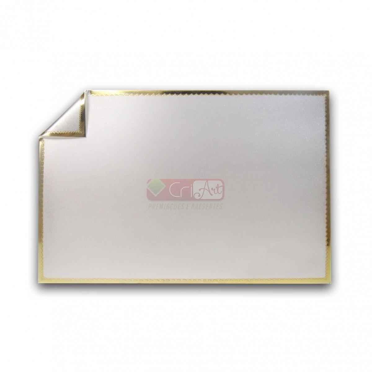 Placa de Homenagem Dobrada sem Estojo - PLC1015