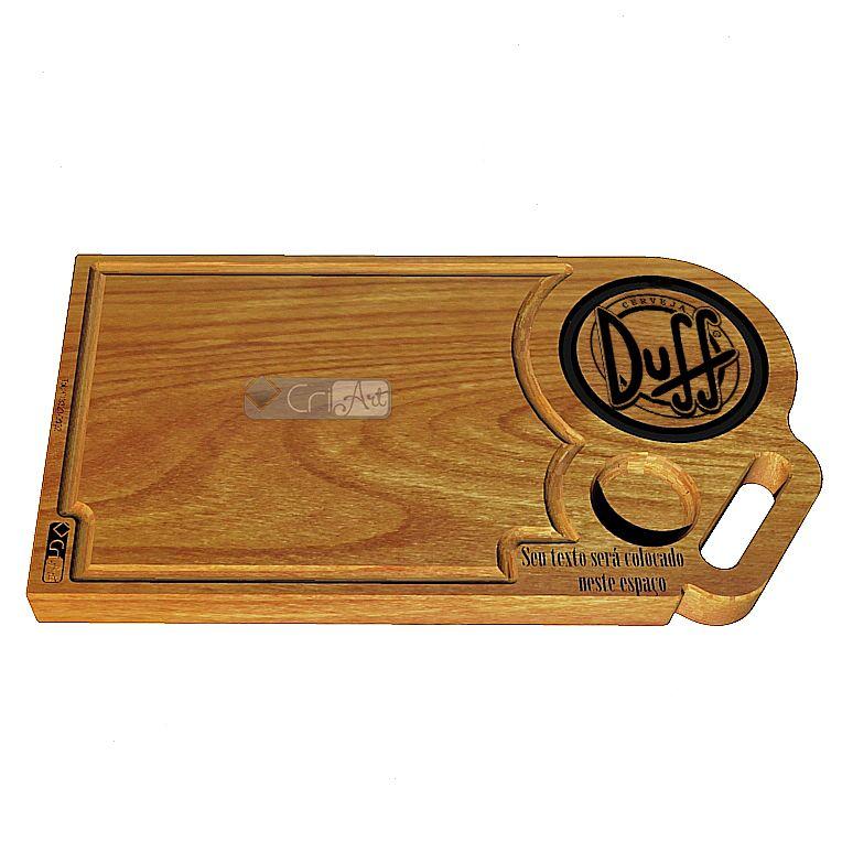 Tabua de Carne Duff TAB2500<br>50 x 30 x 3,6cm</br>