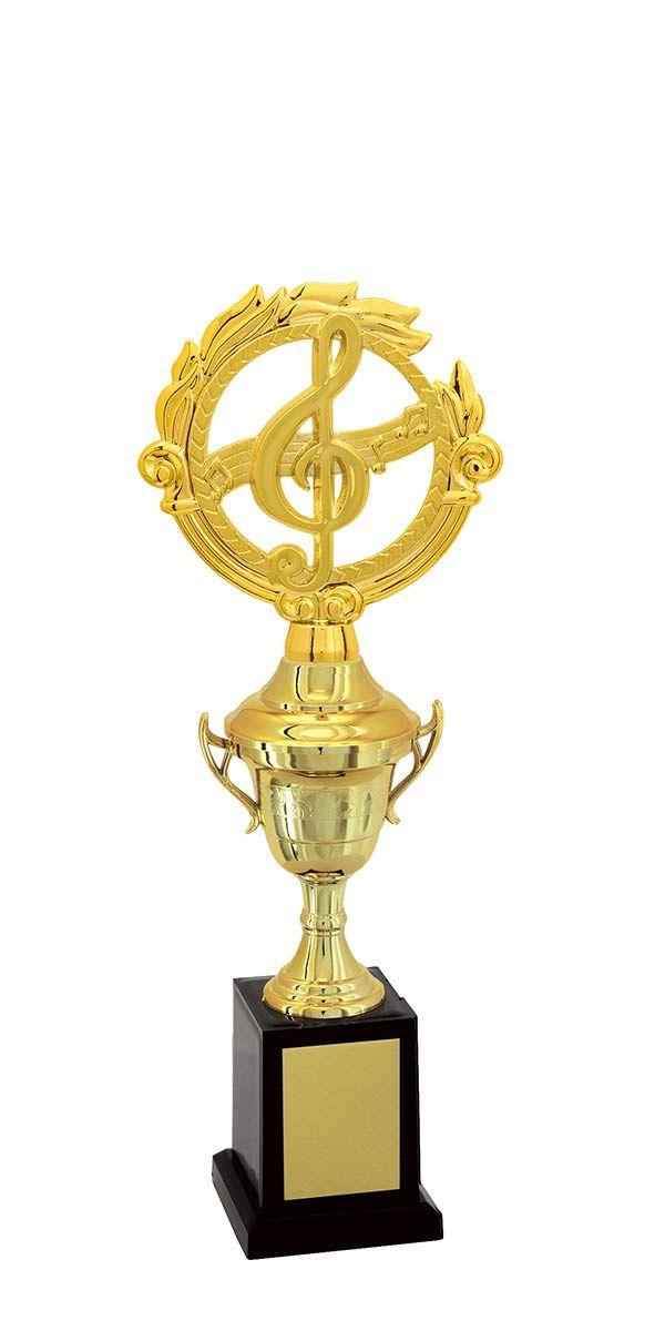Troféu de Música-Karaokê  MUS1900 35,5 / 32,5 / 29,5cm