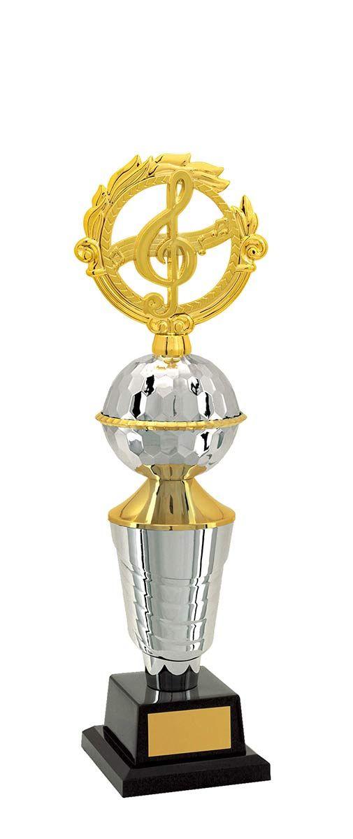 Troféu de Música e Karaokê MUS2600 43,5 / 41,5 / 40,5cm