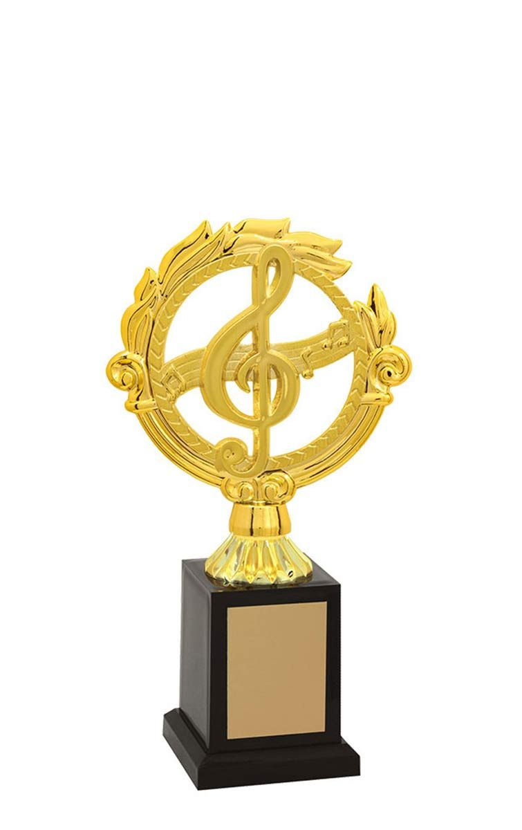 Troféu de Música-Karaokê  MUS2800 24,5 / 21,5 / 19,5cm