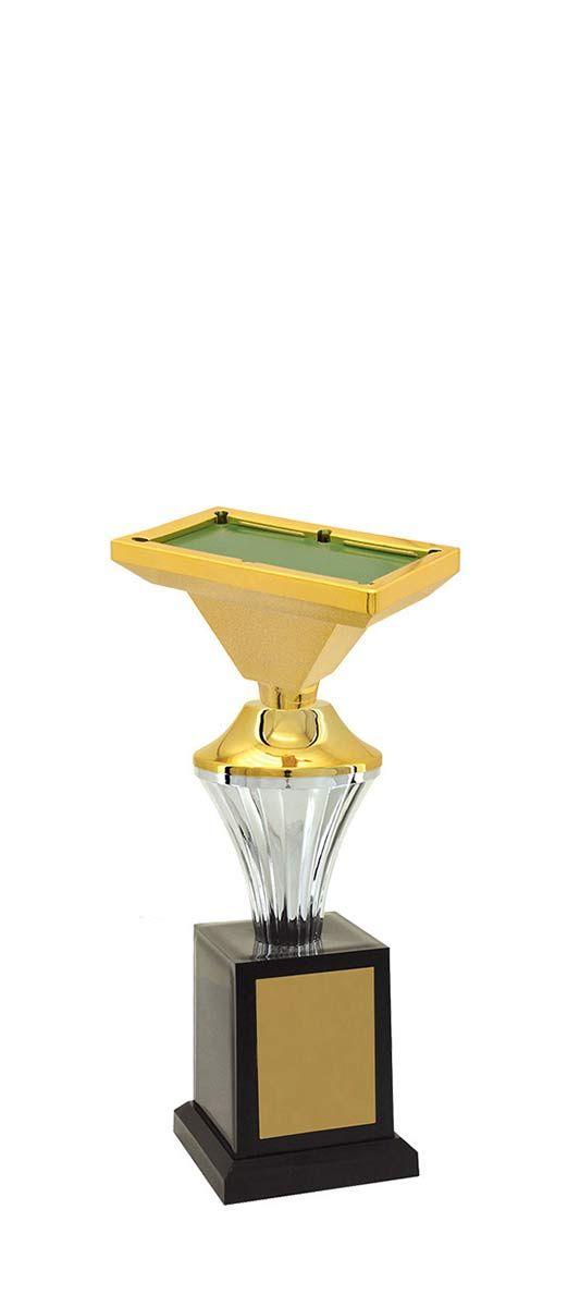 Troféu de Snooker-Sinuca SNK2509 24,3 /21,3 /19,3cm