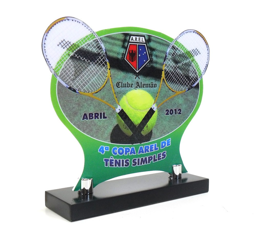 Troféu Personalizado Tênis TNS4000 23x20cm