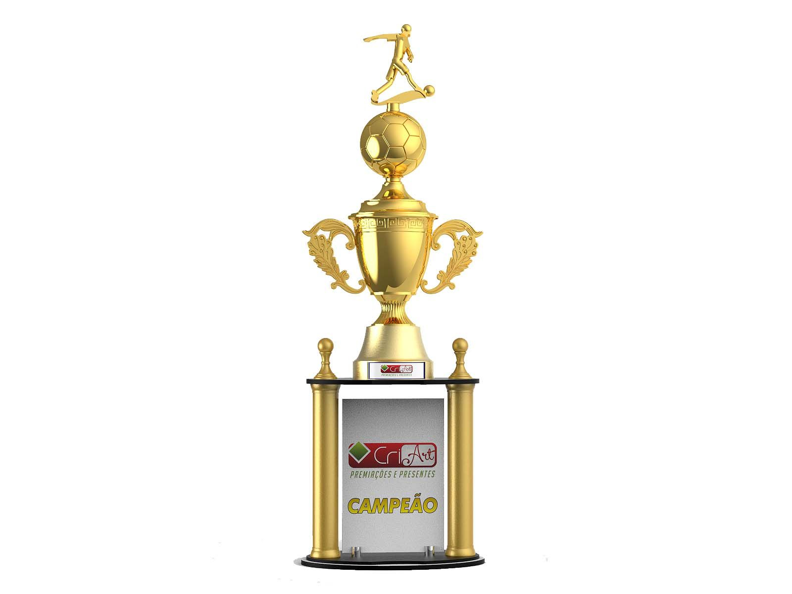 Troféu Personalizado Futebol FUT4000 104,0 / 99,0 / 94,0cm
