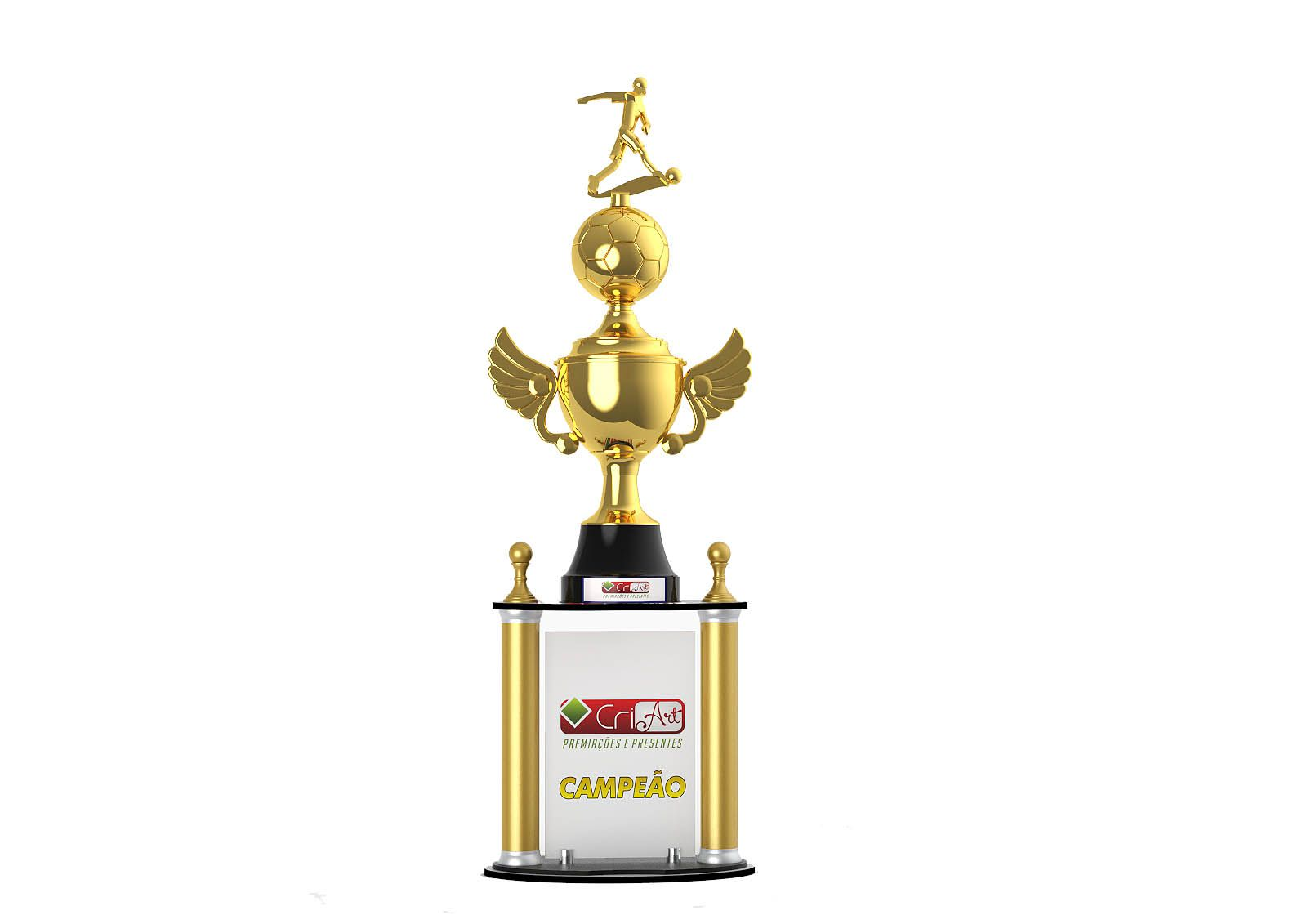 Troféu Personalizado Futebol FUT4200 101,0 / 96,0 / 91,0cm