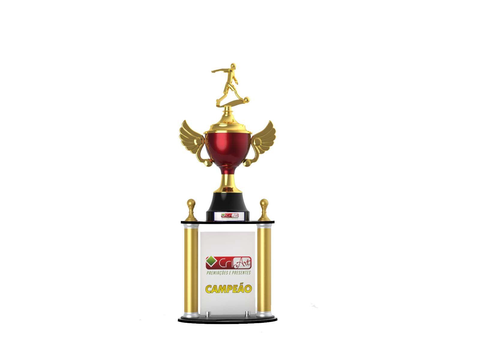 Troféu Personalizado Futebol FUT4400 89,0 / 84,0 / 81,0cm