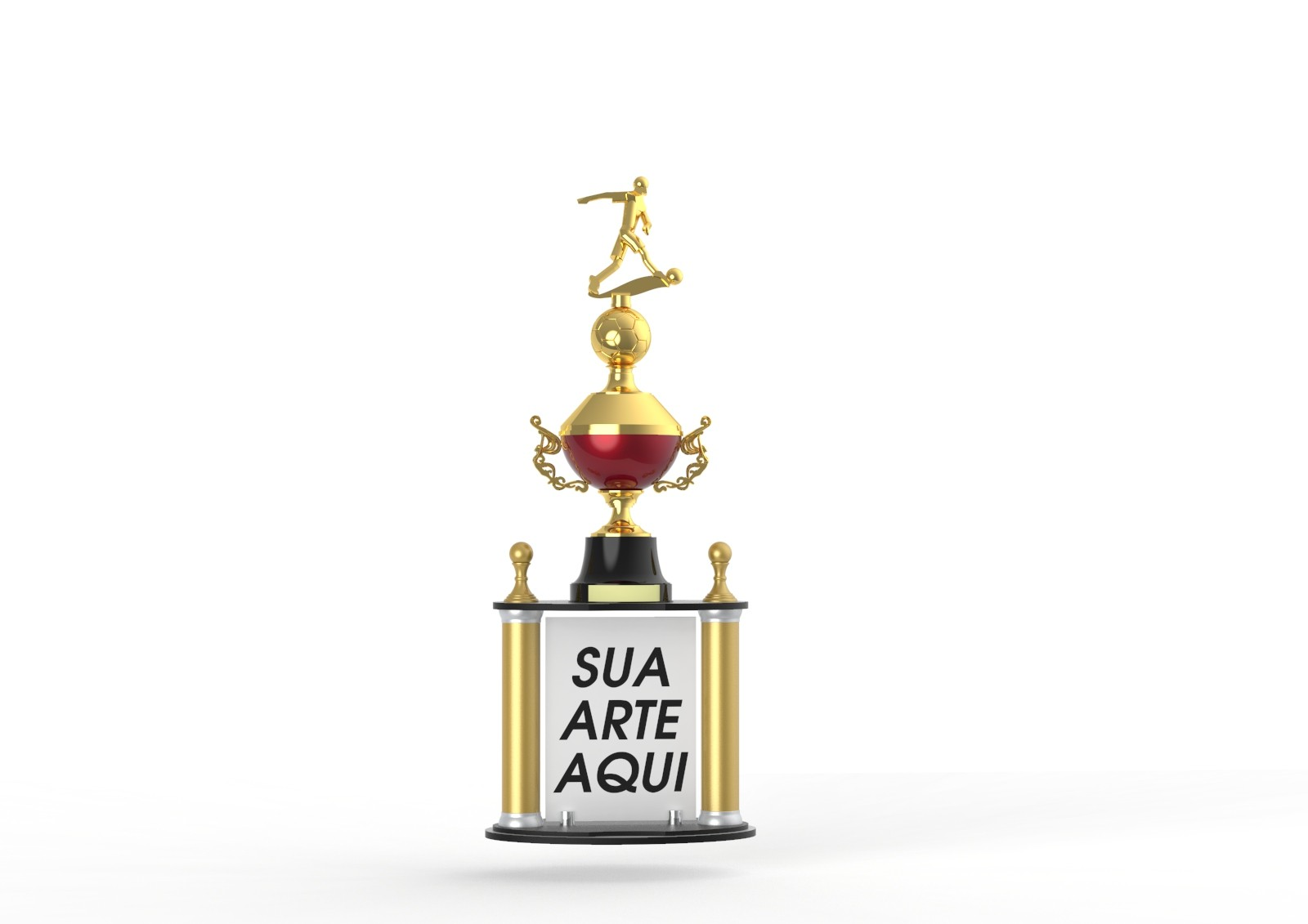Troféu Personalizado Futebol FUT5000 90,0 / 85,0 / 80,0cm