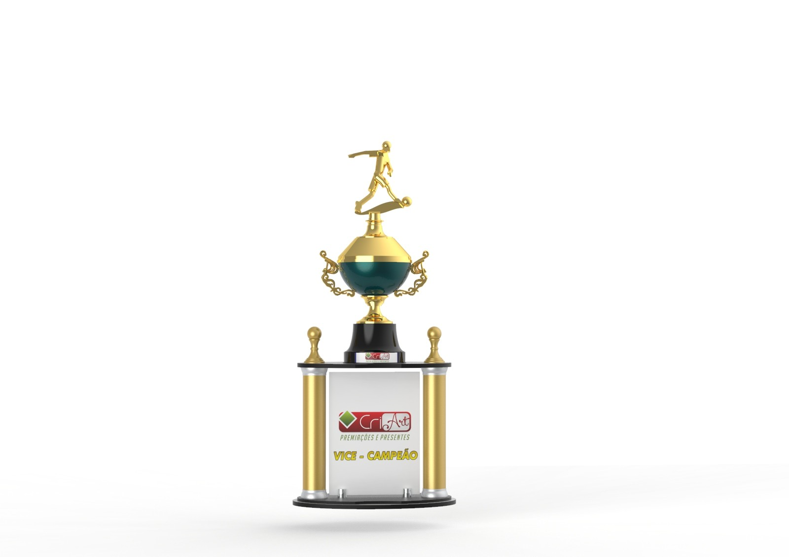 Troféu Personalizado Futebol FUT5100 83,0 / 78,0 / 73,0cm