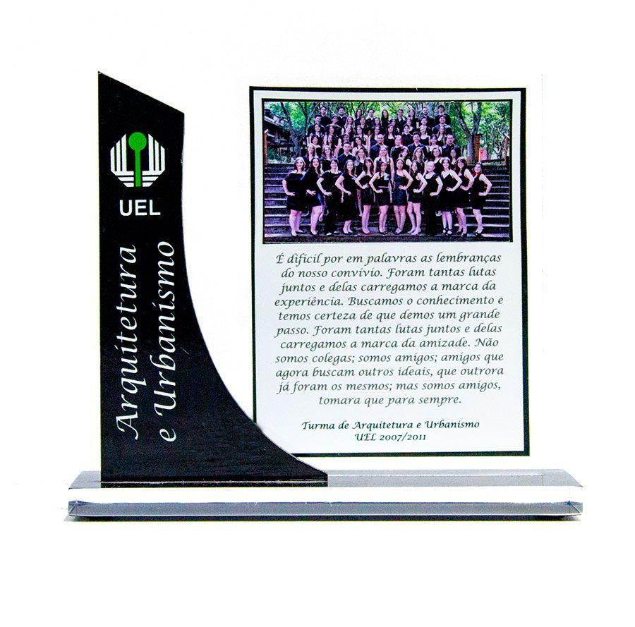 Troféu-Placa Personalizado TPL2000 - 18x15cm