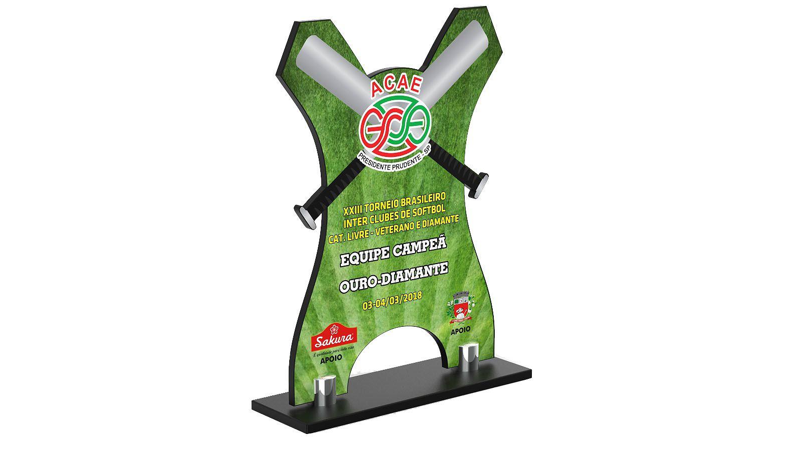 Troféu Personalizado Baseball BSB3900 24x17cm