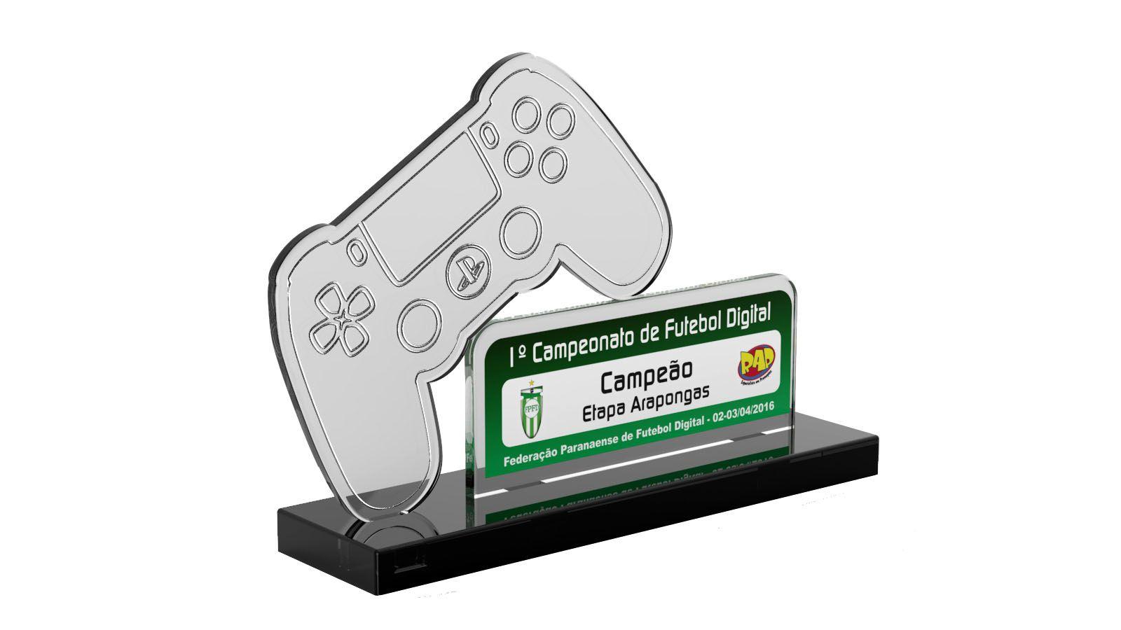 Troféu Personalizado Game GME1000 16X10cm