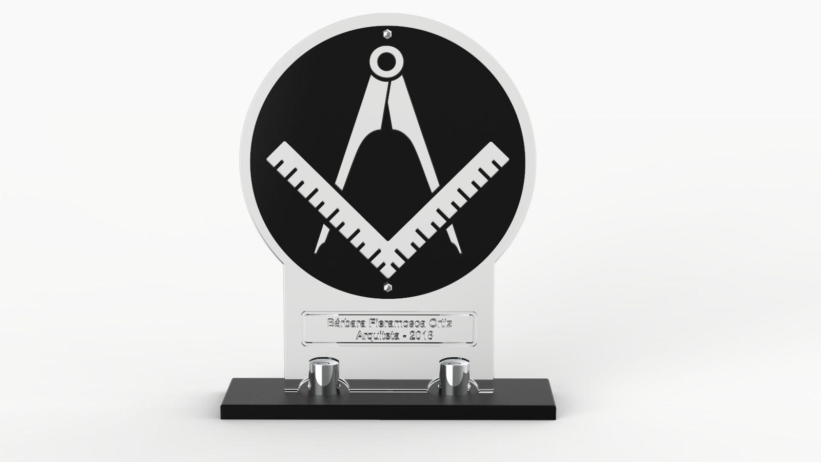 Troféu-Placa Personalizado TPL5000 21x18cm