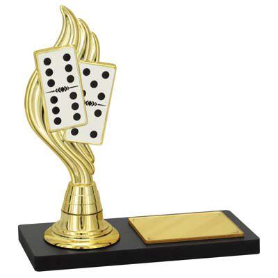 Troféu Campeão de Dominó PLM-240 15cm