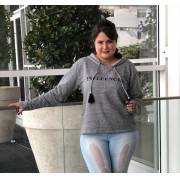 Blusa de Moletom plus size Influencer